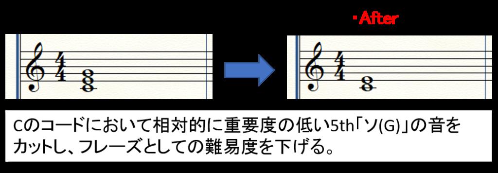 【フレーズを簡単に編曲】5thの音をカット